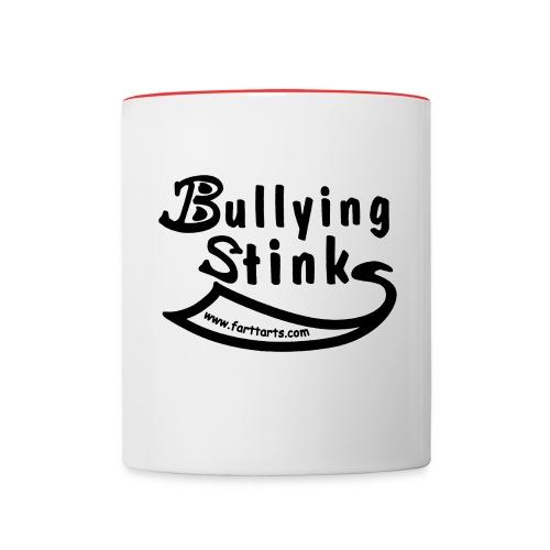 bullying stinks black woutl png - Contrast Coffee Mug
