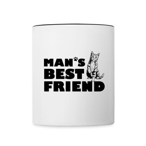 Man's Best Friend Cat Logo - Contrast Coffee Mug