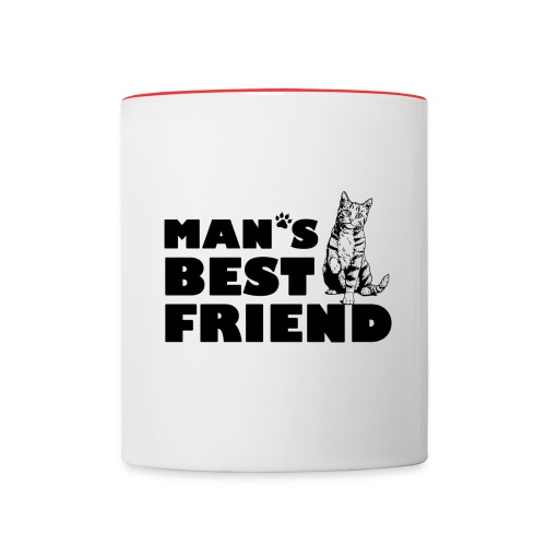 Man's Best Friend Cat Logo - Contrast Coffee Mug