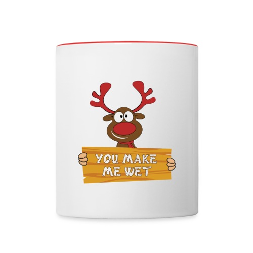 Red Christmas Horny Reindeer 2 - Contrast Coffee Mug