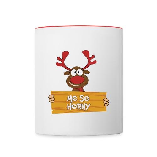 Red Christmas Horny Reindeer 6 - Contrast Coffee Mug