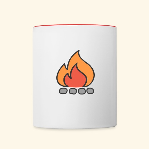 Fire Logo - Contrast Coffee Mug