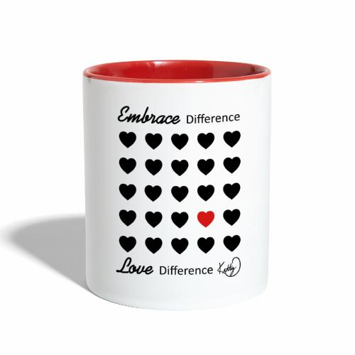Embrace Difference, Love Difference - Contrast Coffee Mug