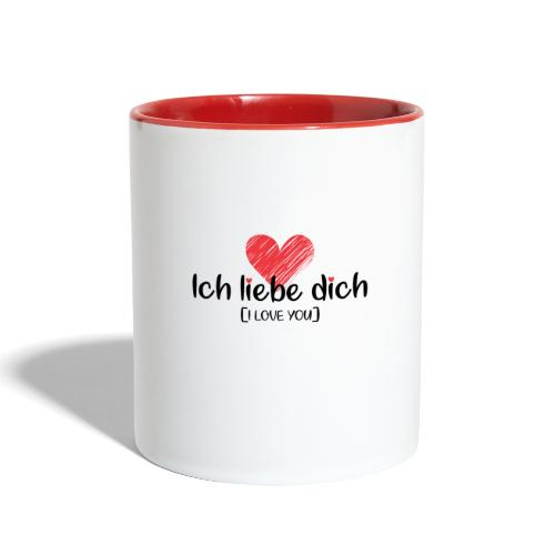 Ich liebe dich [German] - I LOVE YOU - Contrast Coffee Mug