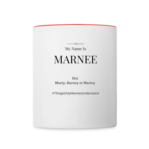 my name is Marnie - Contrast Coffee Mug