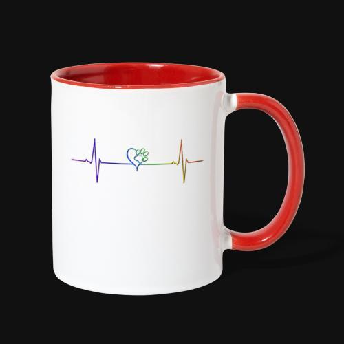 Live & Breathe Dog - Contrast Coffee Mug