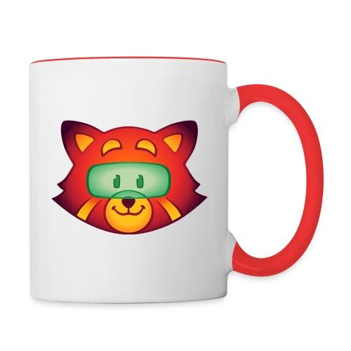 Foxr Head (no logo) - Contrast Coffee Mug