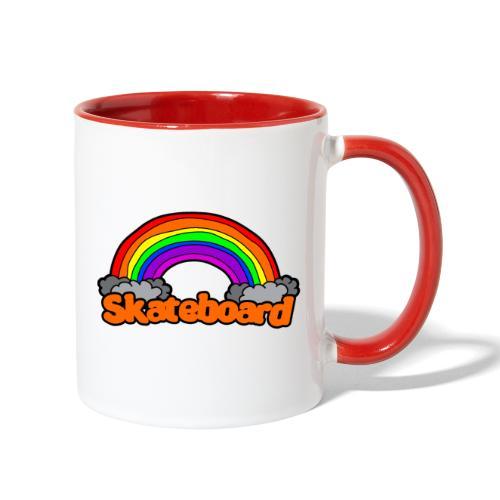 SK8 THE RAINBOW - Contrast Coffee Mug