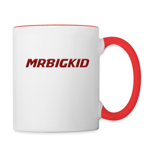 MrBigKid Textured Logo - Contrast Coffee Mug