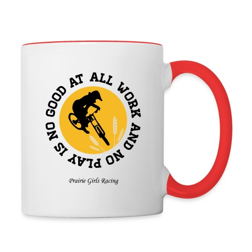 all work and no play product final png - Contrast Coffee Mug