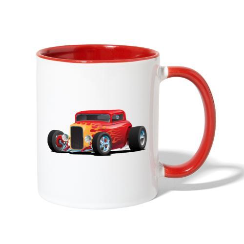 Classic Bold Red Custom Street Rod - Contrast Coffee Mug