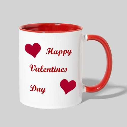Red Heart Contrast Mug - Contrast Coffee Mug