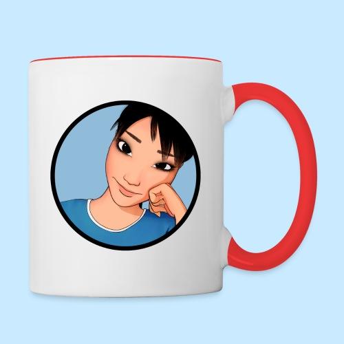 AmiCheek Circle 03 For Blue Trim Mug toon 200dpi - Contrast Coffee Mug