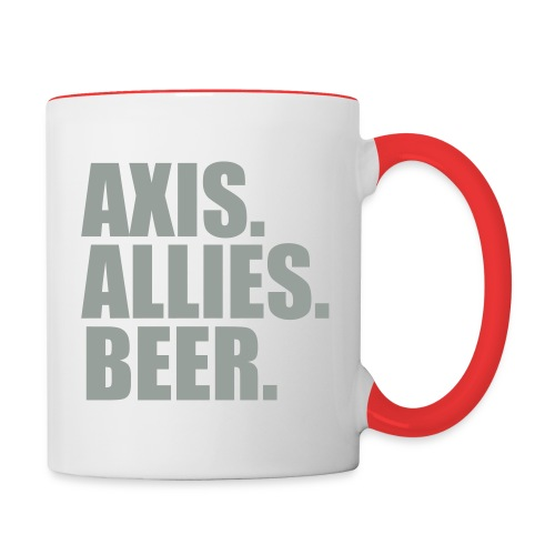 Axis. Allies. Beer. Axis & Allies - Contrast Coffee Mug