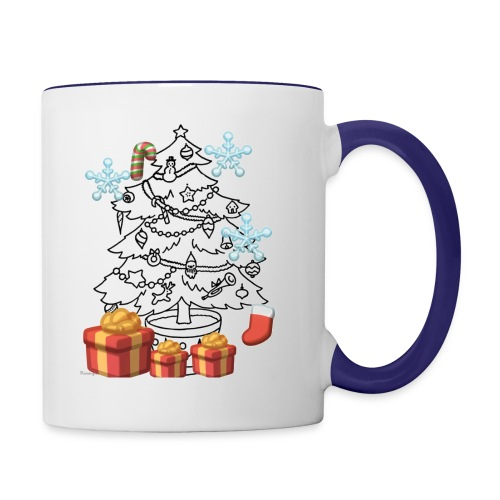 Christmas is here!! - Contrast Coffee Mug