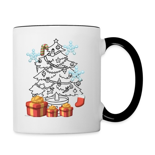 Christmas is here!! - Contrast Coffee Mug