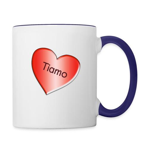 Tiamo I love you - Contrast Coffee Mug