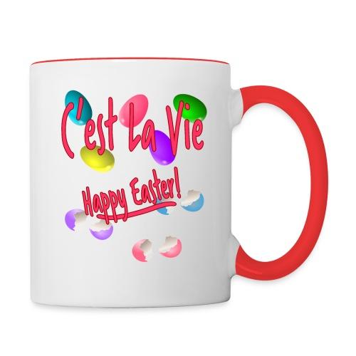 C'est La Vie, Easter Broken Eggs, Cest la vie - Contrast Coffee Mug