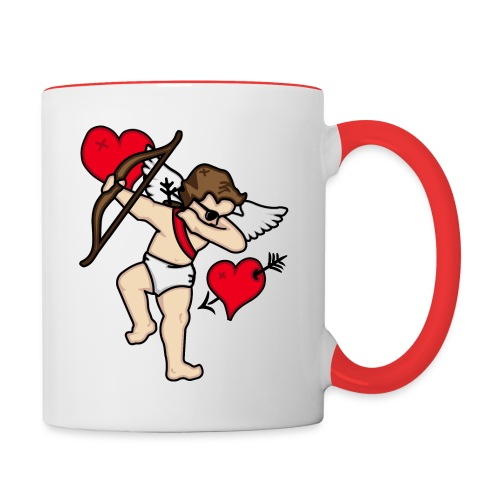 Dabbing Cupid For Valentines Day Gift T shirts - Contrast Coffee Mug