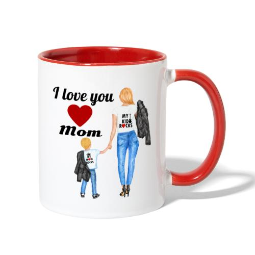 Mother's day gift from daughter, Mother's Day Gift - Contrast Coffee Mug