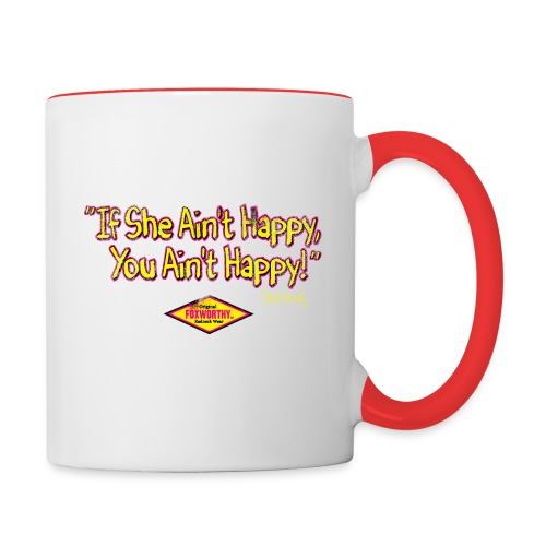 if she aint happy01 - Contrast Coffee Mug