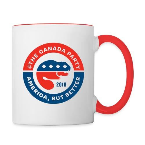 canadapartylogo - Contrast Coffee Mug