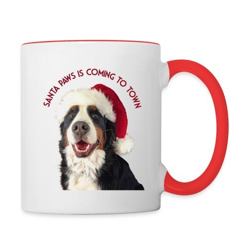 Santa Paws - Contrast Coffee Mug