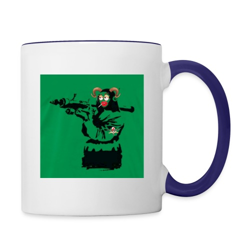 Baskey mona lisa - Contrast Coffee Mug
