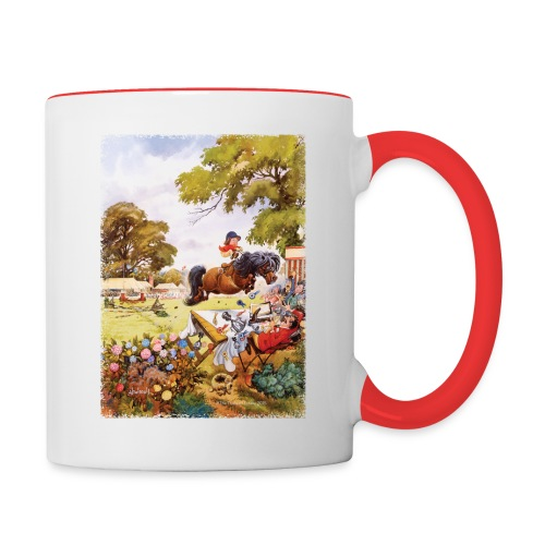 PonyTournament Thelwell Cartoon - Contrast Coffee Mug