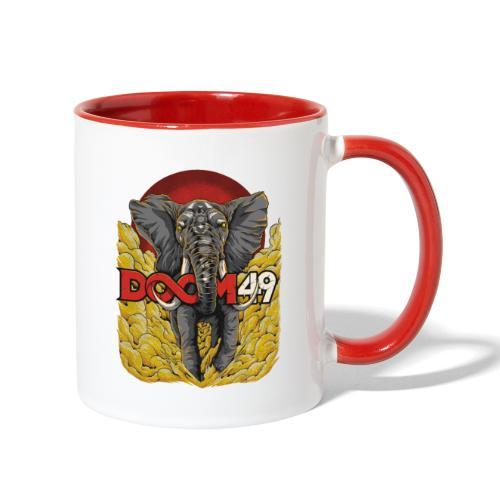 Yellow Smoke Elephant by DooM49 - Contrast Coffee Mug