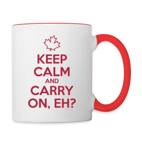 Keep Calm and Carry On Eh - Contrast Coffee Mug