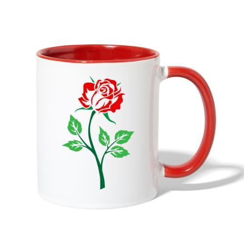 Red Rose - Contrast Coffee Mug