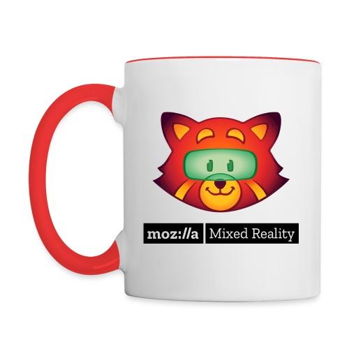 Foxr Head (black MR logo) - Contrast Coffee Mug