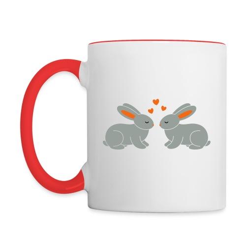 Rabbit Love - Contrast Coffee Mug