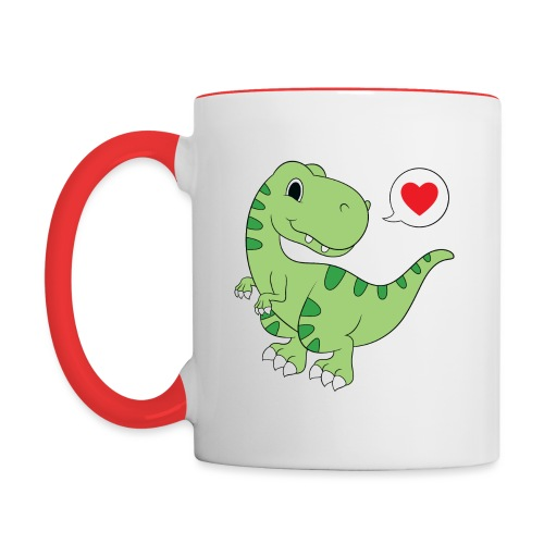 Dinosaur Love - Contrast Coffee Mug
