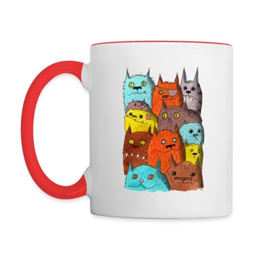 The Cats of Meow Tyson B - Contrast Coffee Mug