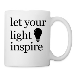 Let Your Light Inspire Sports Tank (black font) - Coffee/Tea Mug