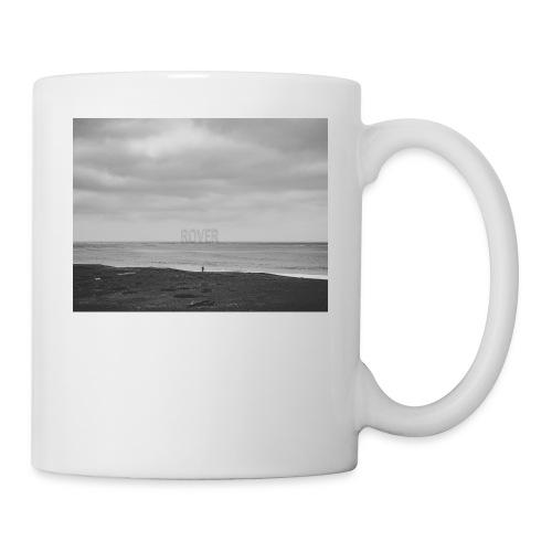 Black and White Beach Photo by Trevor J. Brown - Coffee/Tea Mug