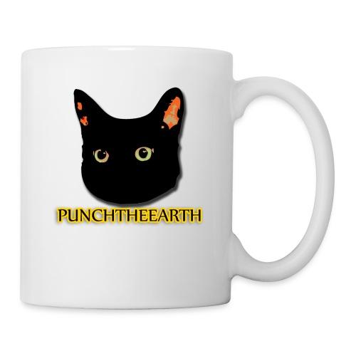 PunchTheEarth Cat with Text - Coffee/Tea Mug