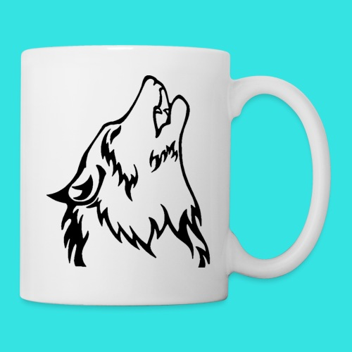 Wolf (back) - Coffee/Tea Mug