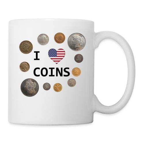 I Love Coins - US flag - Coffee/Tea Mug