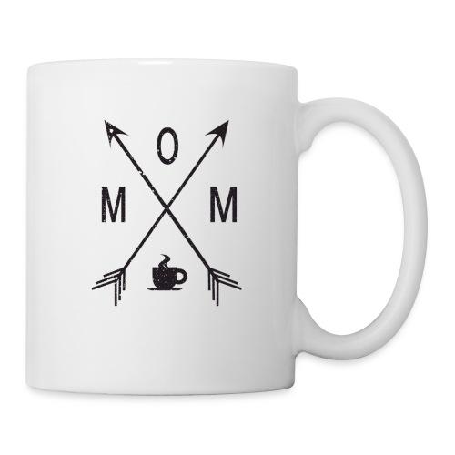 Mom Loves Coffee (black ink) - Coffee/Tea Mug