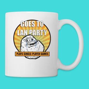 lanparty_singleplayer_meme - Coffee/Tea Mug