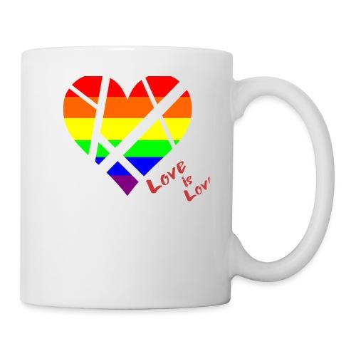LGBT Pride Flag Heart shirt - Coffee/Tea Mug
