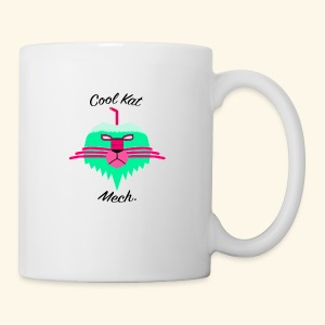 Cool Kat Mech. (Neon Glow) - Coffee/Tea Mug