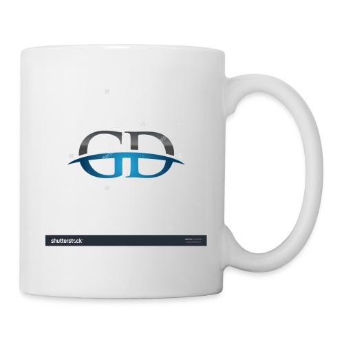 stock vector gd initial company blue swoosh logo 3 - Coffee/Tea Mug