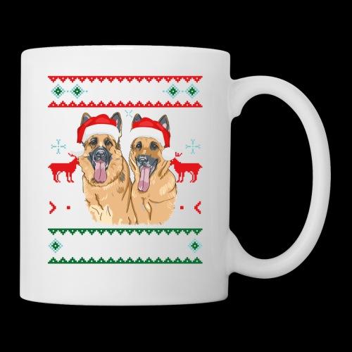 Merry Woofmas German Shepherd Couple - Coffee/Tea Mug