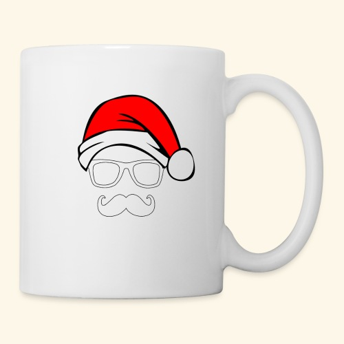 Santa with Geek and Mustache - Coffee/Tea Mug