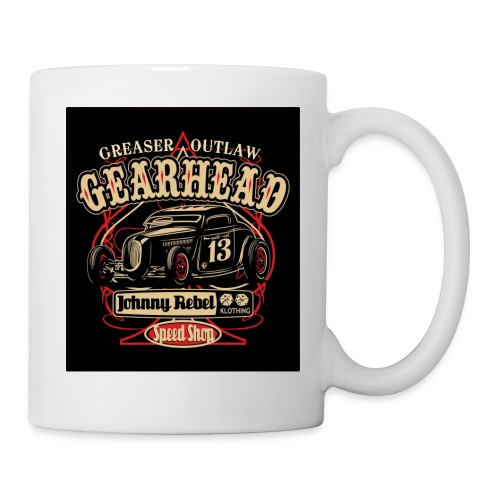 johnny rebel t shirt design gearhead by russellink - Coffee/Tea Mug