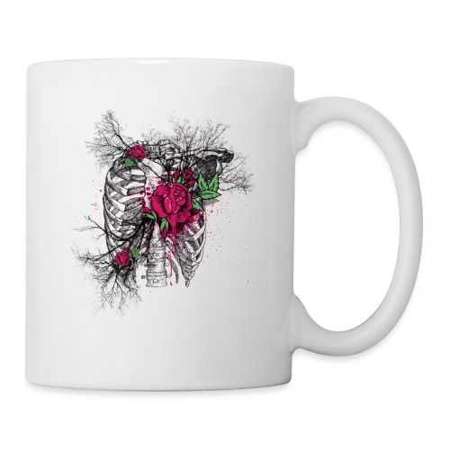 Skeleton Rose - Coffee/Tea Mug